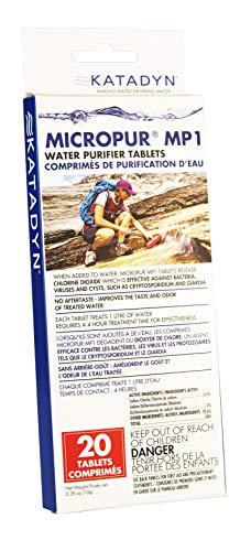Katadyn Micropur MP1 Purification Tablets (20 Count)
