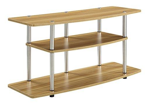 Convenience Concepts Designs2Go 3-Tier Wide TV Stand, Light Oak