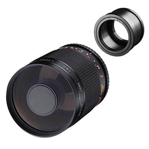 Samyang MF 500mm F8.0 - Objetivo de Espejo Fuji X - DSLR, teleobjetivo CSC, Enfoque Manual, diámetro del Filtro 72mm, para Formato Completo y APS-C