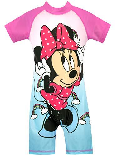 Disney Mädchen Minnie Mouse Badeanzug Blau 104