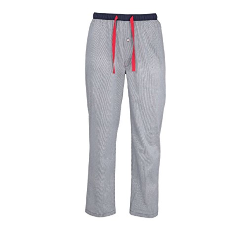 TOM TAILOR Herren Lange-Hose, Schlafhose, Pyjama-Hose - Baumwolle, Popeline, blau, gestreift, mit Eingriff 54