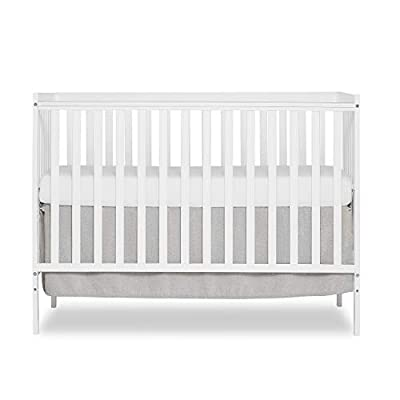 Dream On Me Synergy 5-in-1 Convertible Crib in White, Greenguard Gold Certified from Dream On Me