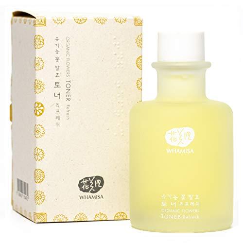WHAMISA Organic Flowers Toner Refresh - Fermentierte koreanische Naturkosmetik - Reisegröße 33,5ml