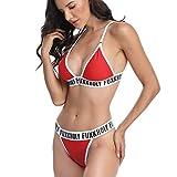 Mujeres Carta Vendaje Cintura Alta Triángulo Bikini Flores Caliente Vacaciones Verano Traje De Baño Trikini Swimwear Beachwear