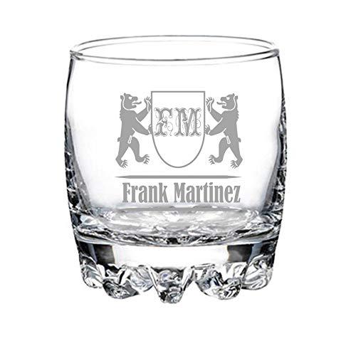 Vaso de whisky personalizado grabado - modelo elegante (2)