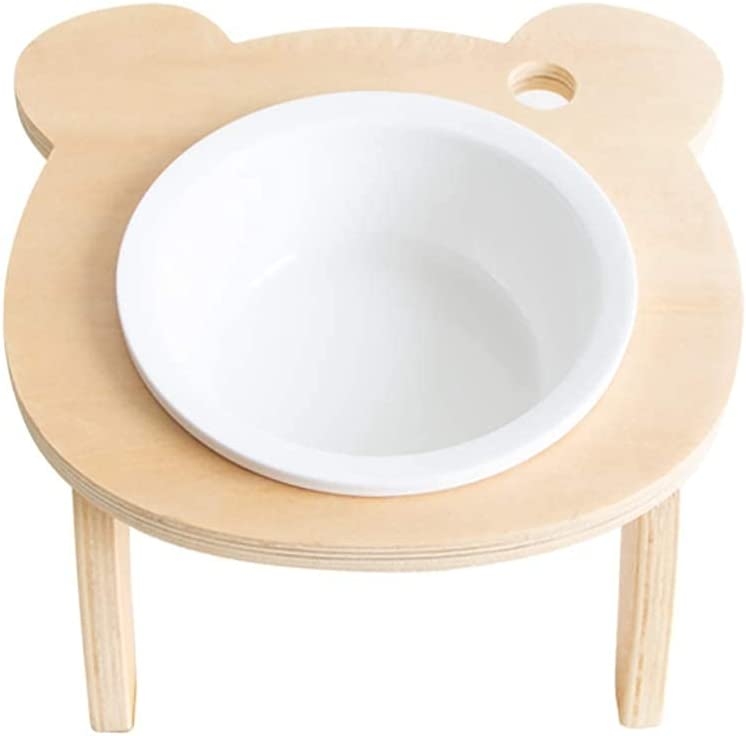 Pretty Pet Bowls Elevated Cat Wood Dog Max 67% OFF Tray Ceramic Choice