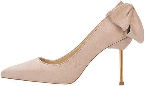 Chaussures à La Mode à Talons Hauts pour Femmes, Stiletto Bow, Rose