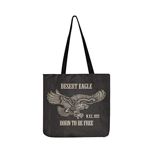 Vintage American Eagle T-shirt Grafik Leinwand Tote Handtasche Schultertasche Crossbody Taschen Geldbörsen Für Männer Und Frauen Einkaufstasche