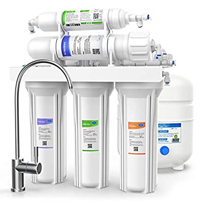 Reverse Osmosis Water Purifier - 5 Stage Filtration System - Long Lasting Filters - High Daily Purification Rate - Removes Upto 99% Impurities - 75 GPD