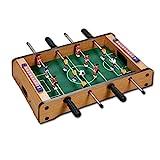 palmi Biliardino per Bambini e Adulti Biliardino da Tavolo Calcio Balilla Effetto Legno Robusto Dimensioni: 51 x 31 x 10 cm