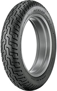 120/90-17 Tube Type (64S) Dunlop D404 Front Motorcycle Tire Black Wall for Honda Shadow 750 ACE VT750C 1997-2005