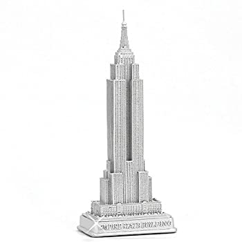 ZIZO USA Empire State Building Statue from New York City Silver 9  NYC Statues Collection