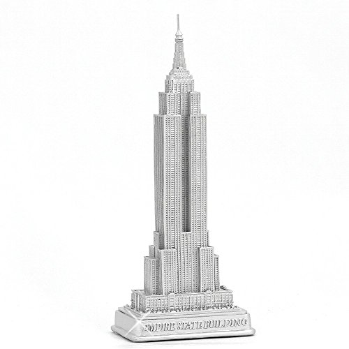 """ZIZO USA Empire State Building Statue from New York City Silver 9"""" NYC Statues Collection"""