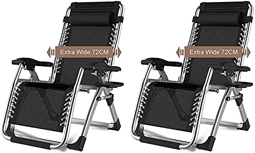 Tumbona Plegable, Sillas plegables de tumbonas livianas, sillas de jardín Conjunto de 2 sillones de cubierta reclinables plegables, silla de cubierta de tumbona, silla plegable de tumbonas, portátil