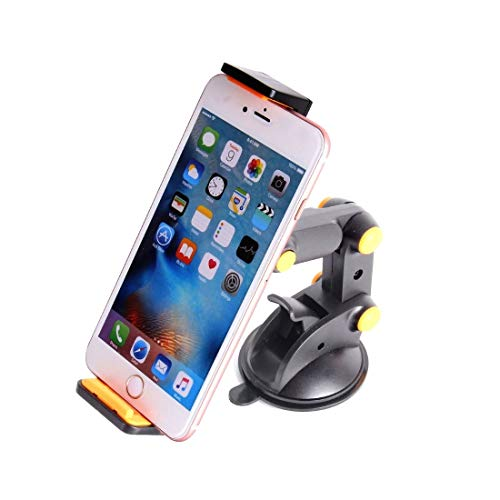 Auto Telefoon Houder Dashboard Zuignap Tablet GPS Mobiele Telefoon Auto Houders Verstelbare Opvouwbare Mounts Stands (Kleur : Zwart)