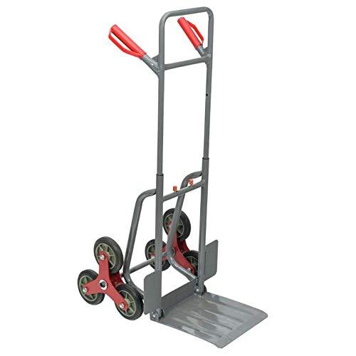 WerkaPro 10770 Steekwagen, inklapbaar, 6 wielen, in hoogte verstelbaar, maximale belasting 150 kg, inklapbaar slabbetje