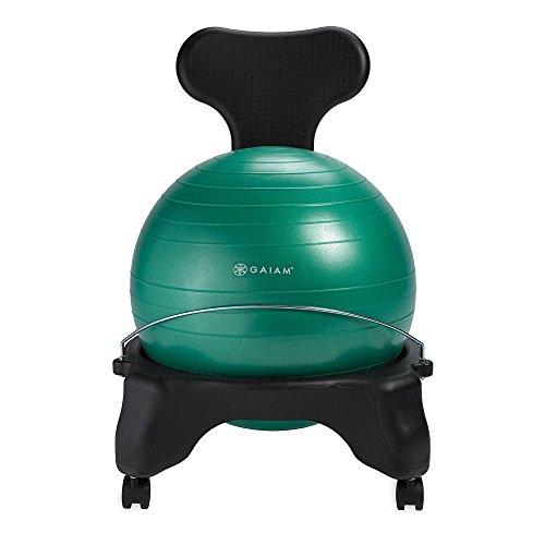Gaiam Classic Balance Ball Chair – Exercise Stability Yoga Ball Premium...