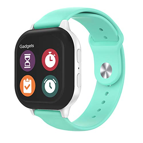 Gizmo Watch Band Replacement for Kids, Soft Silicone Smartwatch Band Compatible with Gizmo Watch 2 / Gizmo Watch 1 - Teal Watch Band