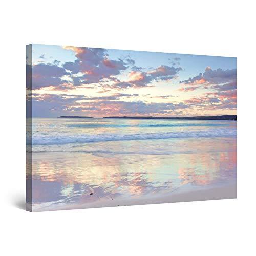 Startonight Cuadro Moderno en Lienzo Ensueño Playa de la Eternidad, Paisaje Naturaleza para Salon Decoración 60 x 90 cm