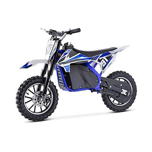 Moto Eléctrica Niños Desde 5 o 6 años | Minimoto Eléctrica Azul BIPOWER Speed Lion | Moto eléctrica 500W y 36V | También para Adultos < 60 kg