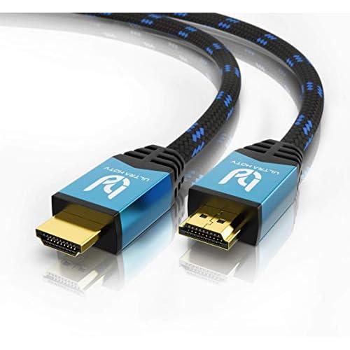 Ultra HDTV Cavo HDMI 4K - 2m Premio HDMI 2.0b, Risoluzione 4K a 60Hz, HDR, ARC, Ethernet, 3D, Nylon Intrecciato, Video UHD 2160p