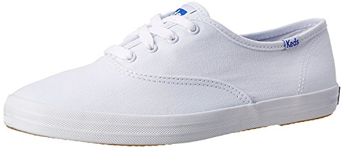 Keds Damen Champion Original Canvas Sneaker, weiß, 41.5 EU Ancho