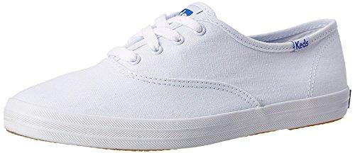 Keds Damen Champion Original Canvas Sneaker, weiß, 41.5 EU Ancho