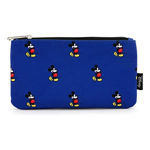 Loungefly Disney by Coin/Cosmetic Mickey Print Blue Bags