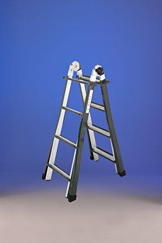 Escalera Telescópica MULTI-POSICIONES Mixta acero aluminio 16peldaños (4x 4) (4+ 4)