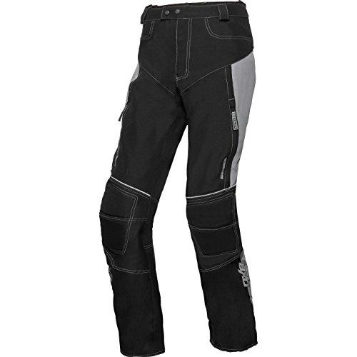 DXR Motorradhose Herren Sommer Textilhose, Verbindungsreißverschluss, Zwei Einschub-, Zwei Gesäßtaschen, Reflexmaterial, Taschen für Knie- und Hüftprotektoren, Grau, XXL