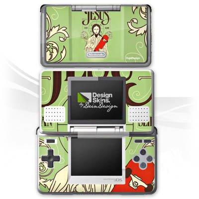 DeinDesign Skin kompatibel mit Nintendo DS Aufkleber Sticker Folie Jesus Skateboard Lustig