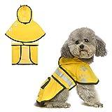 PAWCHIE Dog Raincoat Hooded - Waterproof Dog Rain Jacket, Dog Rain Coat with Leash Hole and Pocket, Dog Poncho with Strip Reflective, for Small Medium Large Dogs