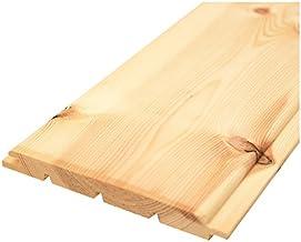 【Bグレード】北欧レッドパイン 無垢羽目板 パネリング 本実目透かしR溝 無塗装 12x112x3900mm 8枚入 壁材 天井
