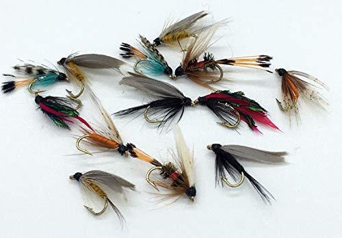 Vliegvissen klein - nat vissen vliegt, 12 vliegen pack voor forel maat 16-18 Pack#71