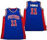 XIETARPAULIN NBA Baloncesto Jersey, Detroit Pistons Isiah Thomas # 11 Jerseys Swingman Tela Transpirable Mangas Frescas Ropa de Tanque (Size : S)