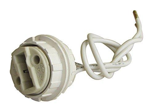 Tibelec 854710Halogen-Fassung mit Gewinde + 2Ringe für Leuchtmittel mit Sockel G9weiß