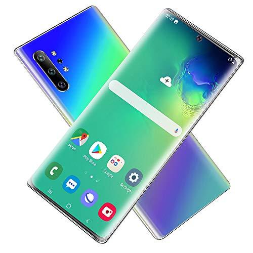 GJRphone SIM Libre Desbloqueado los teléfonos móviles, 4G Dual Sim Android 6.5 Pulgadas de Alta definición de Pantalla, cámaras duales 13.0MP + 23.0MP Teléfonos Celulares,Gradation,EUPlig