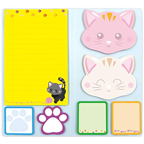 Cats Sticky Notes Set Sticky Notepads 210 Sheets Cute Book Notes for Cats Lovers Kids Office School Friends Gifts Small Gifts