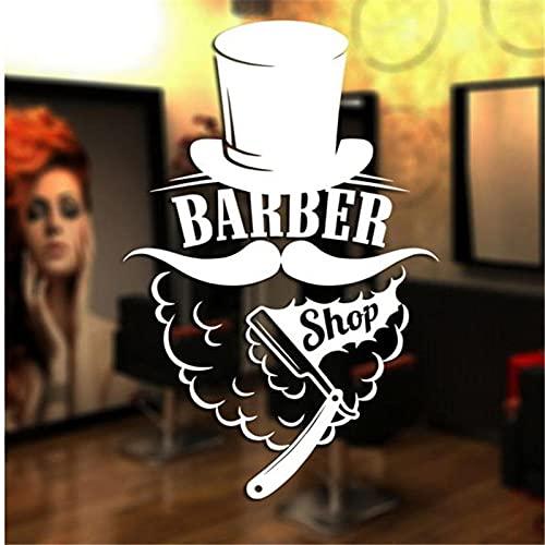 58x93cm pegatina de barbería para hombre, calcomanía de pan de afeitar, póster de maquinilla de afeitar, vinilo, arte de pared, calcomanía, decoración, decoración de ventana, Mural