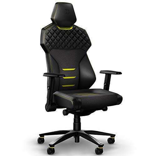 BACKFORCE One – Premium Gaming Stuhl/Schreibtischstuhl mit optimaler Ergonomie für langes Sitzen – Gaming Chair Made in Germany – Entwickelt mit E-Sports Profis für Gamer (Yellow)