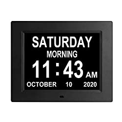 8.7 Inch Digital Day Clock Auto Dimming Extra Large Day Date Time Dementia Calendar Clocks Perfect for Seniors Elderly Alzheimer Vision Impaired