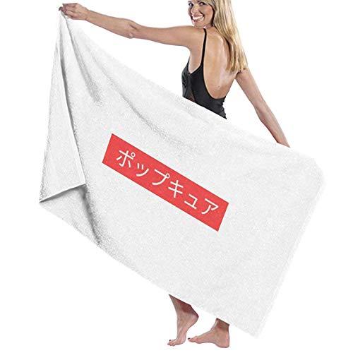 U/K Toalla de baño japonesa con logo de The Pop Cure Box de secado rápido