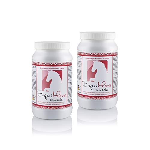 EquiMove 2 Dosen Muscle Power Pellets - Ergänzungsfuttermittel zur Unterstützung des Muskelaufbaus Fuer Dein Pferd! Fuer effektives Training oder bei Problemen der Muskulatur.