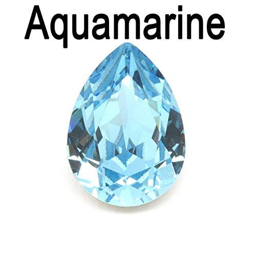 Multi kleuren Crystal Drop Peer Strass met Instelling Strass Naaien Op Glas Stenen DIY Kleding Sieraden Ring Hanger Dress,Aquamarijn, 6x8mm 21st