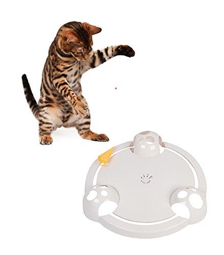 Trademark Innovations 12.5' Diameter Interactive Cat Teaser Toy