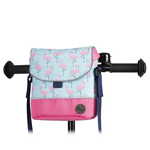 BambinIWelt Lenkertasche für Roller und Fahrrad, Fahrradtasche für Kinder, wasserabweisend, mit Schultergurt, für alle Puky Räder und Roller (Modell 25)