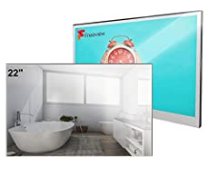 ➤MAGIC MIRROR TV-Mirror is always Up-to-Date, it presents TV programs when turned on and a mirror when turned off. The TV is IP66 waterproof and it is luxury installed in bathroom, hotel and kitchens. ➤SMART FULL HD LED TV-Smart digital TV with Andro...