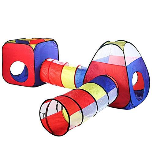 Opvouwbare En Draagbare Speeltent Voor Kinderen Speelhuisje Kindertent Met Kruiptunnel + 300 Ballen + 2 Mat - Speeltent Voor Binnen En Buiten Voor Kinderen