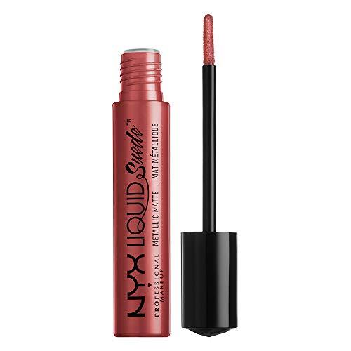 NYX PROFESSIONAL MAKEUP Liquid Suede Metallic Matte Lipstick - Bella, Deep Reddish Copper