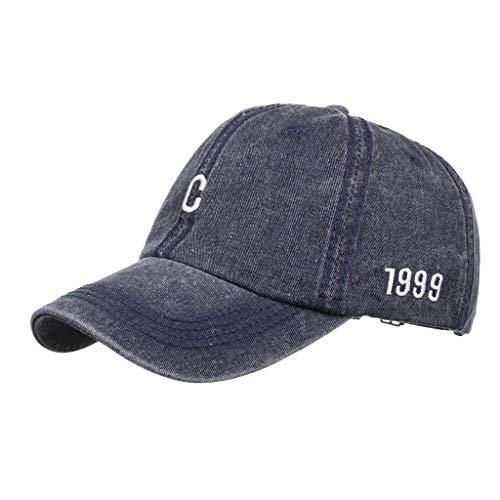 Best Buy! Toimothcn 1999 Letter Printed Cap Hat, Adult Solid Color Sun Hat Adjustable Baseball Cap(N...